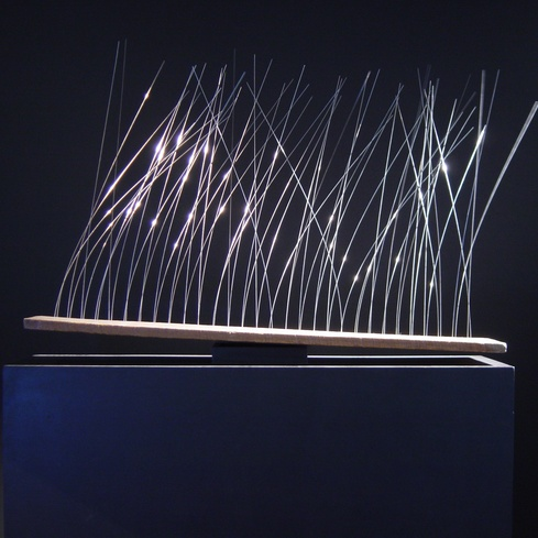 Len Lye's kinetic sculpture <em>Grass</em> 1961-1965. Len Lye Foundation Collection, Govett-Brewster Art Gallery