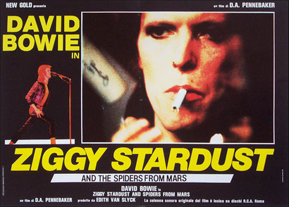 Poster for <em>Ziggy Stardust and The Spiders from Mars. </em>Courtesy of DCD Rights Distribution