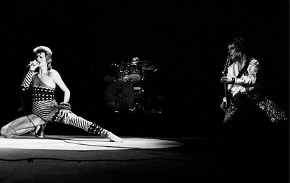 Film still from <em>Ziggy Stardust and The Spiders from Mars</em>. Courtesy of DCD Rights Distribution