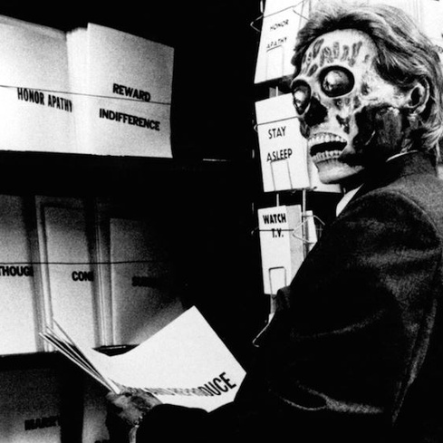 Film still from <em>They Live!<em>. Image courtesy of Roadshow Distribution