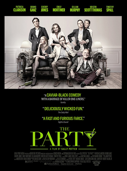 Film poster from <em>The Party</em>. Image courtesy of Madman Films.