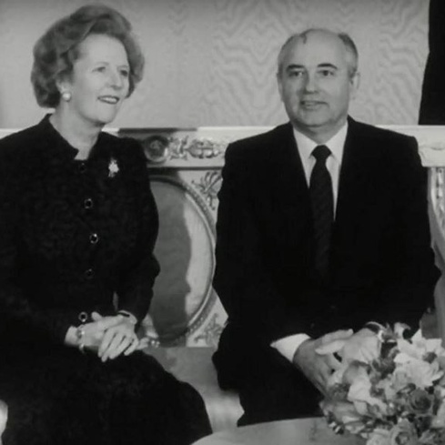Film still from <em>Meeting Gorbachev</em>
