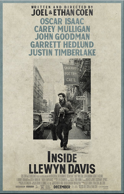 Poster for <em>Inside Llewyn Davis</em>. Image courtesy of Roadshow Distribution