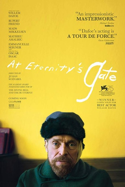 Film poster from At Eternity's Gate. Image courtesy of Transmission Films.