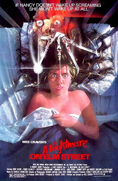 Film poster from A Nightmare on Elm Street Image courtesy of Roadshow Distribution.
