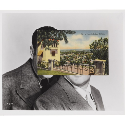 John Stezaker <em>Comic Mask 1</em> 2011. Courtesy The Approach, London