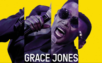 Film poster from <em>Grace Jones: Bloodlight and Bami</em>. Image courtesy of Umbrella Entertainment