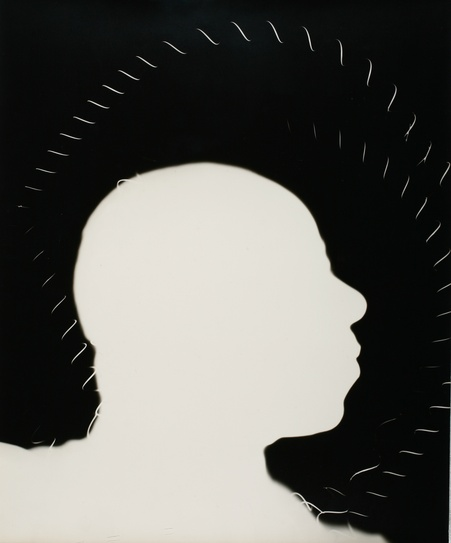 Len Lye, Baby Dodds photogram (1947). Len Lye Foundation Collection, Govett-Brewster Art Gallery/Len Lye Centre