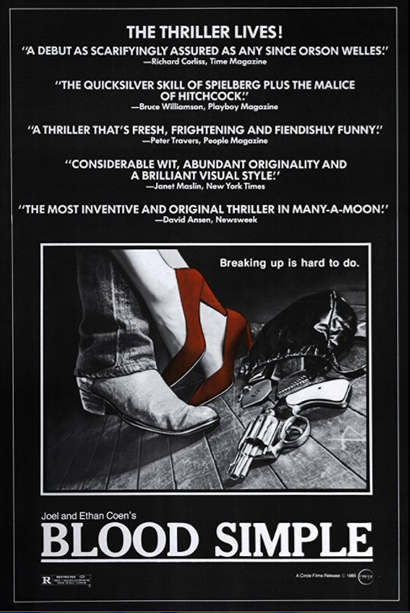 Poster for <em>Blood Simple</em>. Image courtesy of Roadshow Distribution