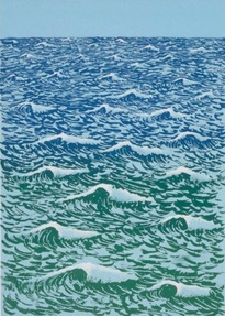 Untitled (Blue and green waves)