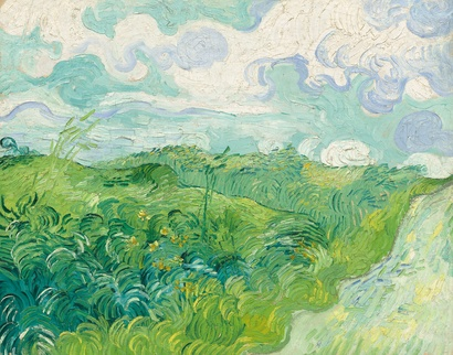 Vincent Van Gogh <i>Green Wheat Fields, Auvers</i> 1890, oil on canvas. 