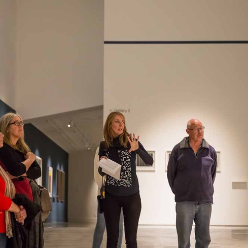 Take a walk and talk through the exhibitions with a member of Govett-Brewster's Front of House team