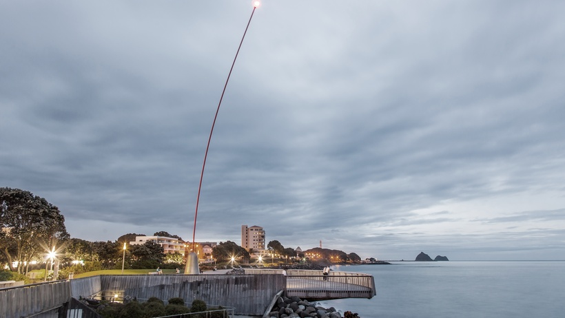 Len Lye's Wind Wand on the award-winning Coastal Walkway