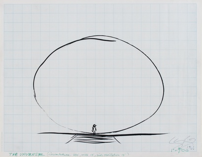 Len Lye drawing of '<em>The Universe</em>' 1960s. Len Lye Foundation Collection, Govett-Brewster Art Gallery