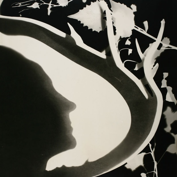 Len Lye <em>Georgia O'Keeffe</em> 1947 photogram. Courtesy of the Len Lye Foundation Collection and Archive, Govett-Brewster Art Gallery/Len Lye Centre