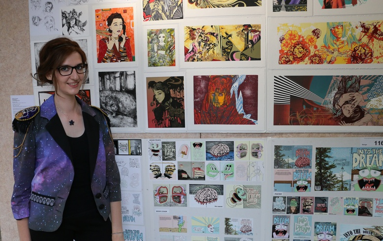 Brittany Glassey with her 2016 Top Art folio