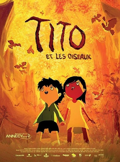 Film poster from <em>Tito and the Birds</em>. Image courtesy of The Brazilian Embassy of New Zealand.