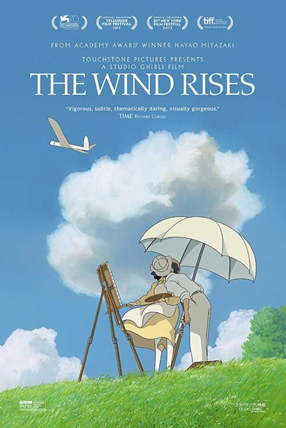 Film poster from The Wind Rises. Image courtesy of Madman Entertainment.