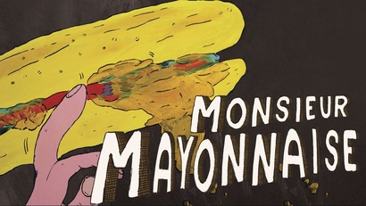 Film poster from Monsieur Mayonnaise. Image courtesy of Antidote Films.