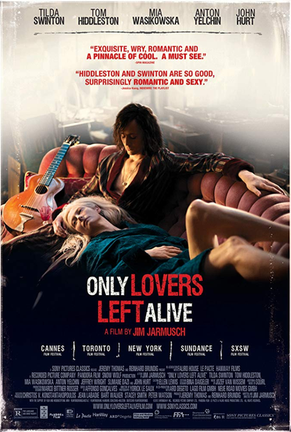Film poster from <em>Only Lovers Left Alive</em>. Image courtesy of Madman Films.