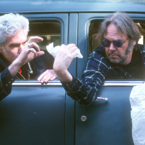 Film still from <em>Neil Young: Crazy Horse Live - Year of the Horse</em>. Image courtesy of Roadshow Distribution.