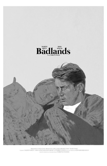 Film poster from Badlands. Image courtesy of Roadshow Distribution.