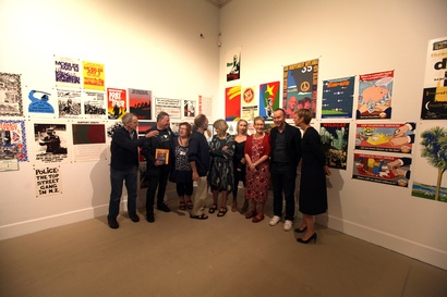 Some of the Wellington Media Collective at the exhibition opening 12 Dec 2015