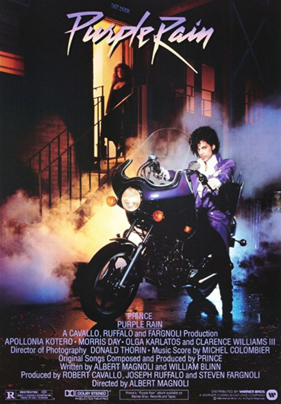 Film poster from <em>Purple Rain</em>. Image courtesy of Roadshow Distribution.