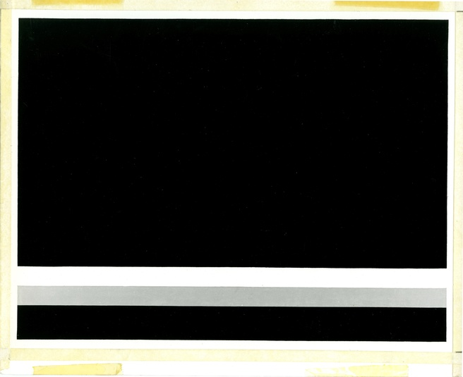 Photographic documentation of John McLaughlin's <em>No.4</em> for <em>State of California Painting Catalogue</em> 1972. Courtesy of New Plymouth District Council. Photo Charters and Guthrie