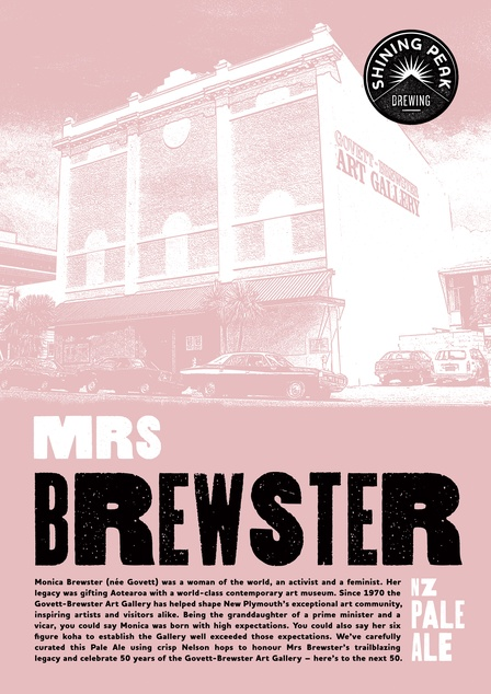 Shining Peak Brewing - Mrs Brewster Pale Ale poster