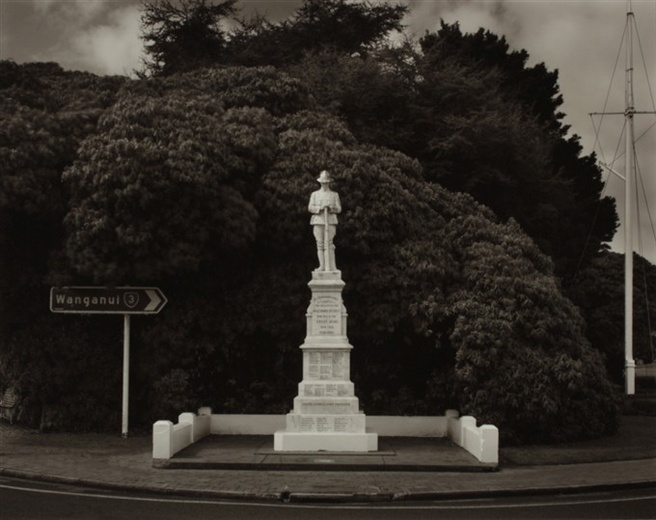 Laurence Aberhart <em>War Memorial, Inglewood, Taranaki, 27 September 2009</em>. Courtesy the artist