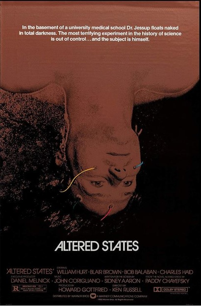 Film poster from Altered States. Image courtesy of Roadshow Distribution.