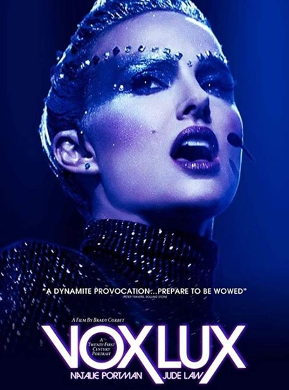 Film poster from Vox Lux. Image courtesy of Madman Films.