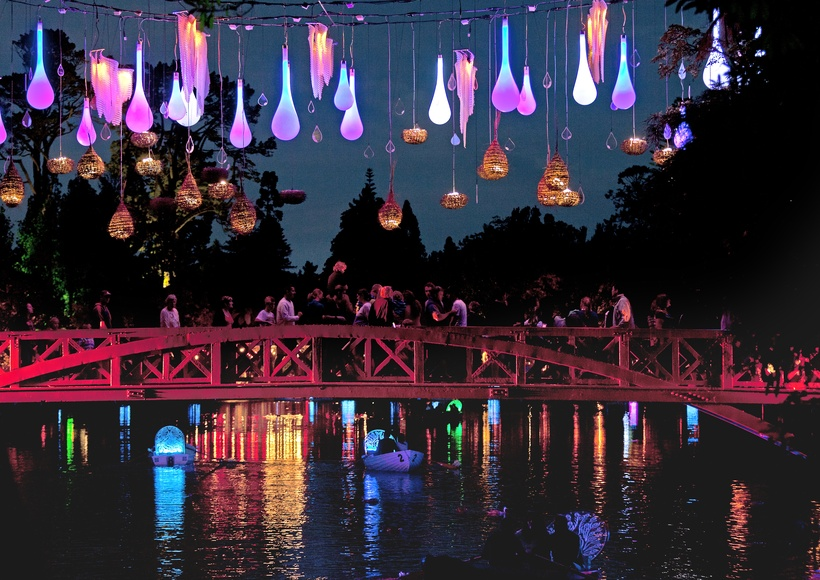 The TSB Bank Festival of Lights in the stunning Pukekura Park runs from December to January every year