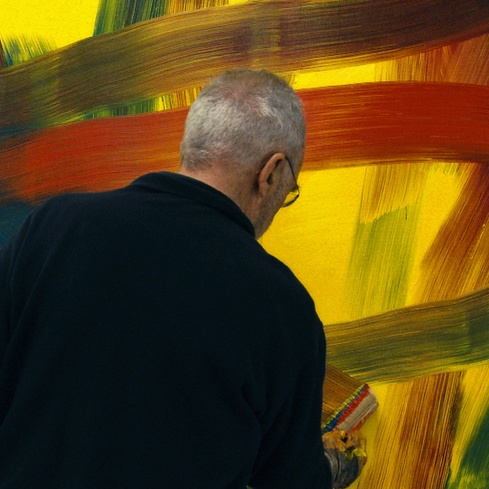 Film still from <em>Gerhard Richter Painting</em>