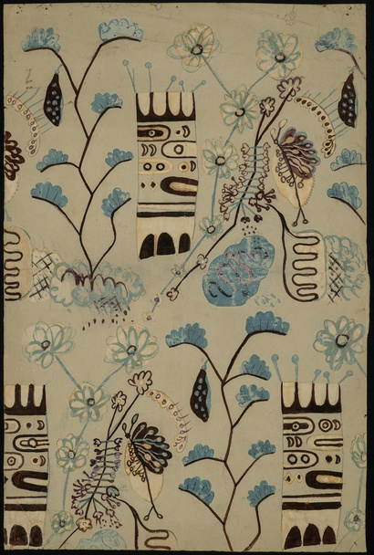 Len Lye, <em>Untitled (Flora and Totem)</em> date unknown. Len Lye Foundation Collection, Govett-Brewster Art Gallery/Len Lye Centre
