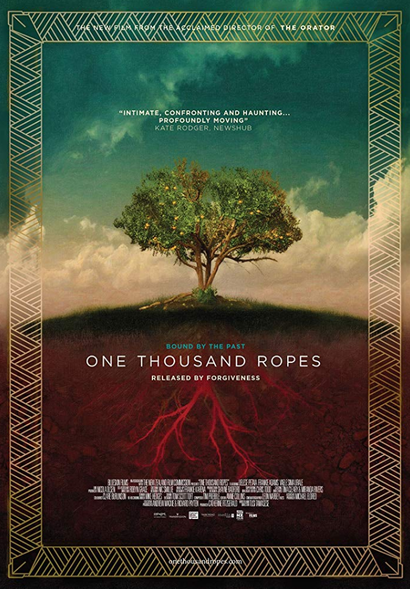 Film poster from <em>One Thousand Ropes</em>. Image courtesy of Transmission Films.