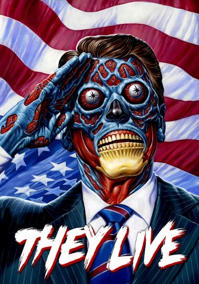 Film poster from <em>They Live!<em>. Image courtesy of Roadshow Distribution