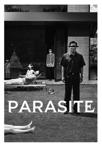 Film poster from <em>Parasite (Black and White Version)</em>