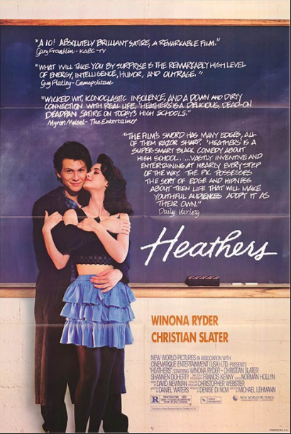 Poster for <em>Heathers</em>. Image courtesy of Umbrella Distribution