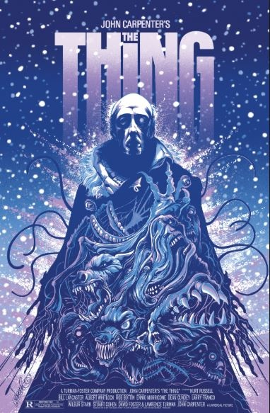 Film poster from The Thing. Image courtesy of Roadshow Distribution.