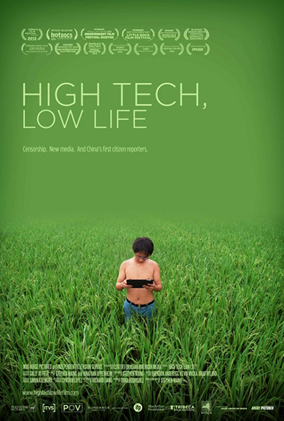 Film poster from <em>High Tech, Low Life</em>. Image courtesy of British Film Council New Zealand