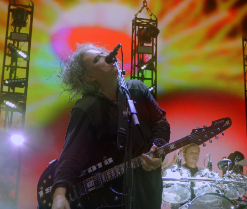 Film still from The Cure - Anniversary 1978 - 2018. Image courtesy of Trafalgar Releasing.