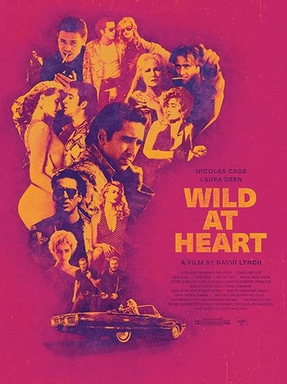 Film poster from <em>Wild at Heart</em>. Image courtesy of Roadshow Distribution