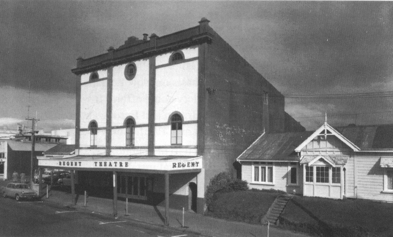 The Regent Theatre in New Plymouth before it was transformed into the Govett-Brewster Art Gallery in 1970