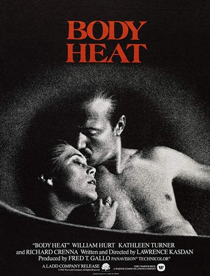 Film poster from Body Heat. Image courtesy of Roadshow Distribution.