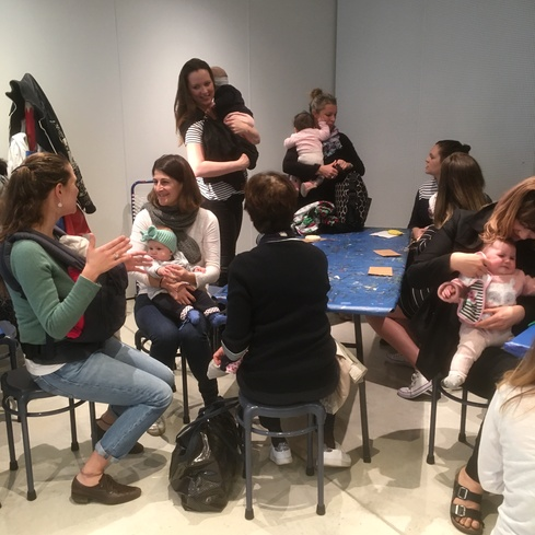 Babes in a workshop at the Gallery. Photo Rosie Moyes
