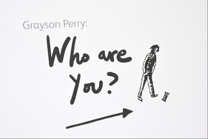 Poster for <em>Grayson Perry Who are you?</em> Image courtesy of the British Council