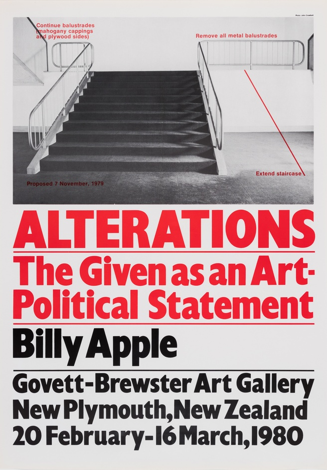 Billy Apple <em>Alterations: The Given as an Art Political Statement</em> 1980, photolithograph. Govett-Brewster Collection
