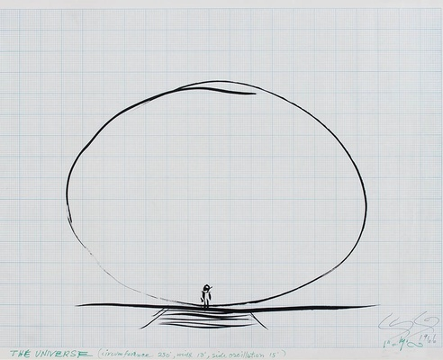 Len Lye <em>drawing of 'The Universe'</em> 1960s. Len Lye Foundation Collection, Govett-Brewster Art Gallery